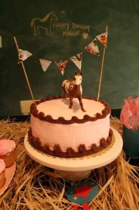 Fun Birthday Horse Cake
