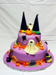 Fun and spooky tiered cakes