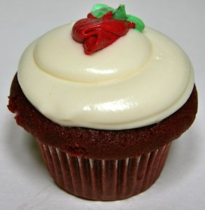 Giant Red Velvet Birthday Cupcake