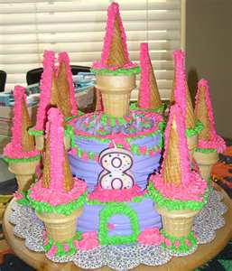 Girl Birthday Cake Castle