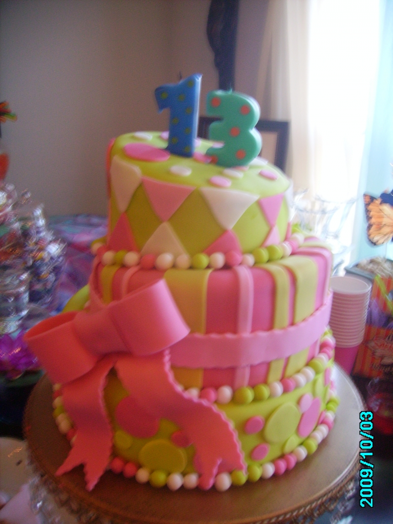 13th Birthday Cakes for Girls » Girl's 13th Birthday Cake
