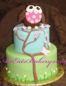 Green Tree Kids Birthday Cakes 228x300 Cool Green Birthday Cakes for Girls