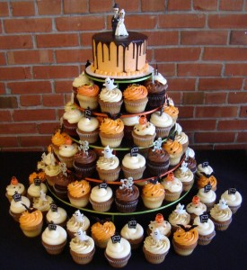 Halloween Cupcake Wedding Cake