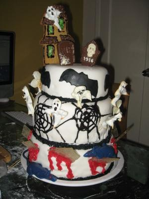 Halloween Tiered Cakes
