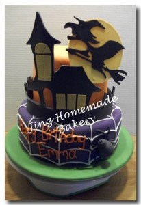 Halloween themed birthday cake