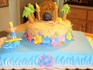 Hawaiian Birthday Cake Decorating Ideas