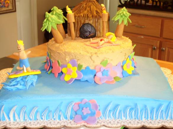 Hawaiian Party Cake Ideas Hawaiian Birthday Cakes Design Birthday Cake Cake  Design And Cookies