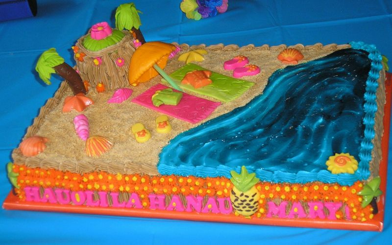 Kids Birthday Hawaiian Cake Ideas 24459 Hawaiian Style Bir