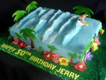 Hawaiian Birthday Cakes