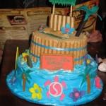 Hawaiian Style Birthday Cakes