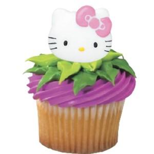 Hello Kitty Cupcake Rings