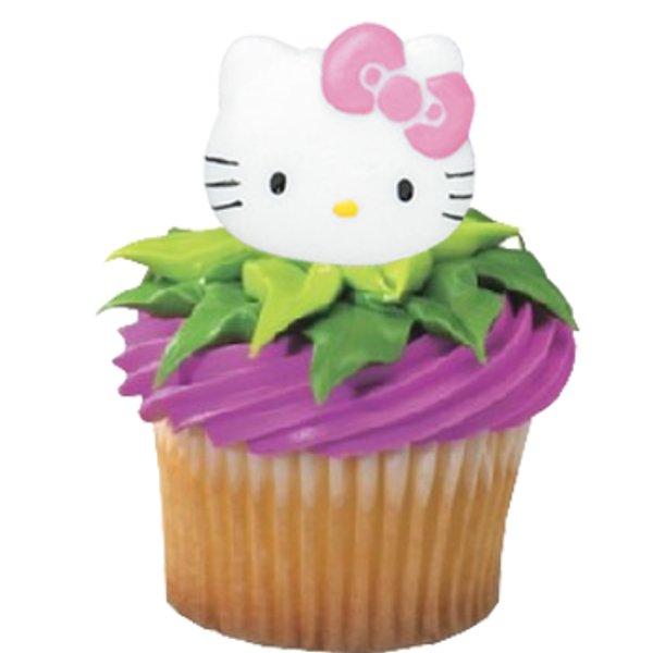 Hello kitty birthday cupcakes hello kitty cupcake rings