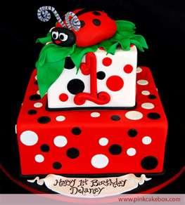 Homemade Ladybug Birthday Cakes