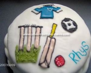 Homemade Sports Cakes