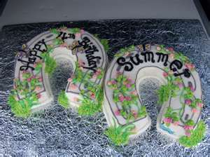 Horse Shoe Birthday Cakes