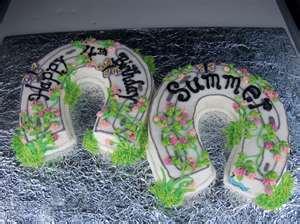 Horse Shoe Birthday Cakes