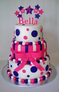 Hot Pink and Purple 21st Birthday Cake
