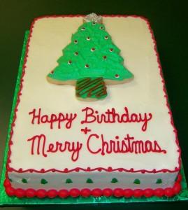 Ideas for a Christmas Birthday Cake