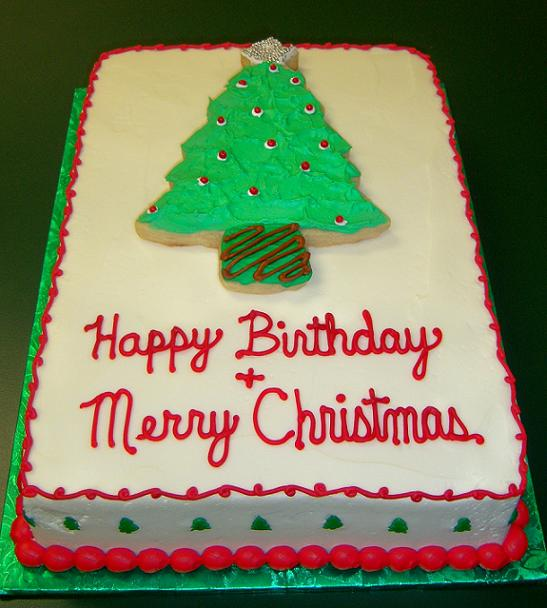 Coolest Christmas Birthday Cakes Picture