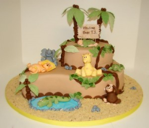 Jungle Baby Shower Cakes