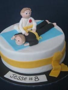 Karate Themed Birthday Cake