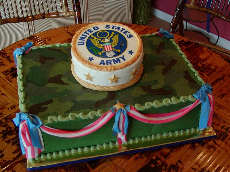 Military and patriotic cakes best birthday cakes for Army cake decoration