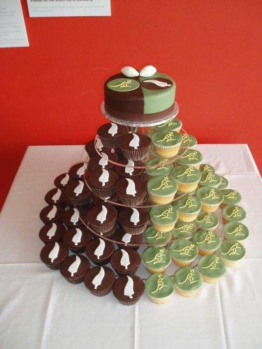Modern Cupcake Wedding Cakes