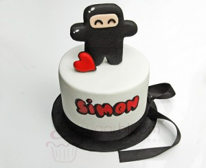 Ninja Birthday Cake with Fondant