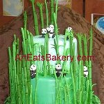 Panda Fondant Birthday Cake