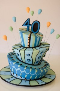 Pictures Of 40th Birthday Cakes