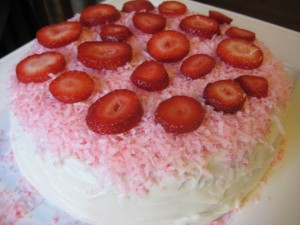 Southern Style Strawberry Cake