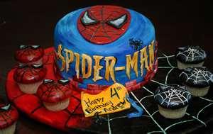 Spider Cupcakes Birthday Cake Design