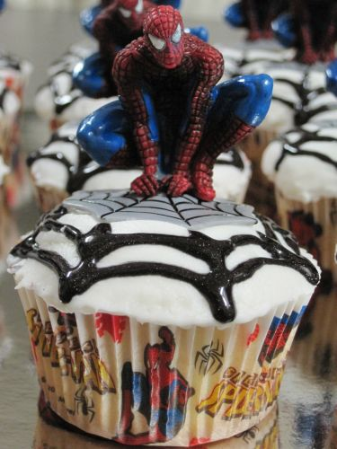 Spiderman Birthday Cupcakes