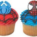 Spiderman Cupcake Rings