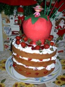 Strawberry Shortcake Happy Birthday Cake