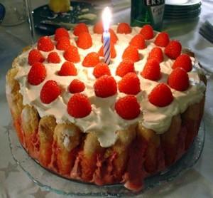 Swedish birthday cake is Strawberry cake