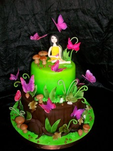 Sweet 16 Butterfly Birthday Cakes