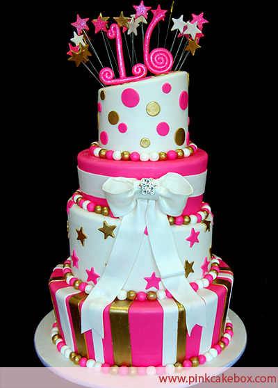 Sweet 16 Cake Decorations