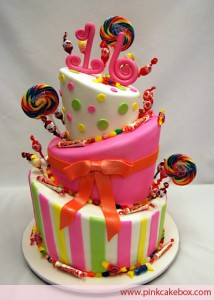 Sweet 16 Candyland Cake 214x300 Green Sweet 16 Birthday Cakes