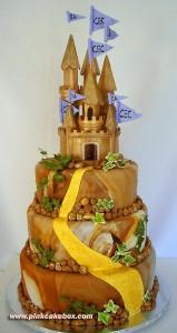 Sweet 16 Castle Cake