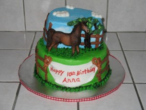Sweet Horse Birthday Cake Design
