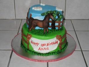 Sweet Horse Birthday Cake Design