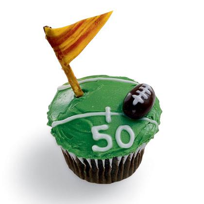 Touchdown Treat Football Cupcake
