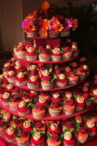 Traditional Cupcake Wedding Cakes
