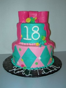 Turquoise & Hot Pink 18th BirthdaY