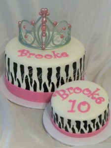 Zebra and Princess 21st Birthday Cake