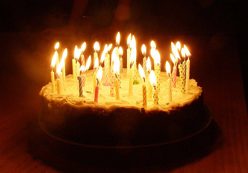 Wonderful Birthday Cake with Lit Candles Best Birthday Cakes