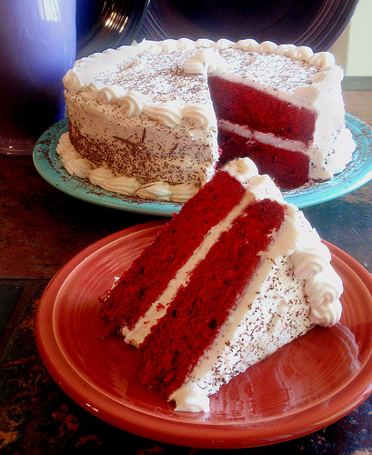 Tired of chocolate cake? Try red velvet birthday cake