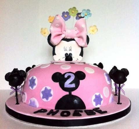 Fawn Kreationsminnie Mouse Cake Topper Birthday Party Ideas