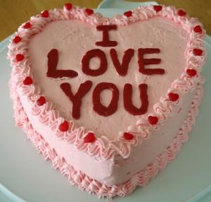 Valentine Birthday Cake